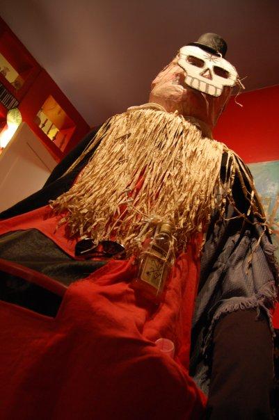 Belgium giant puppet disguised as voodoo Baron Samedi