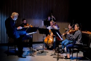 The musicians of Postmodern Camerata conducted by Charles Barber. Photo Michelle Doherty, Diamond's Edge Photography