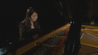 Beverley Leung playing Glen Gould's piano for science story, CBC/RC (concept, producer-director, editor)