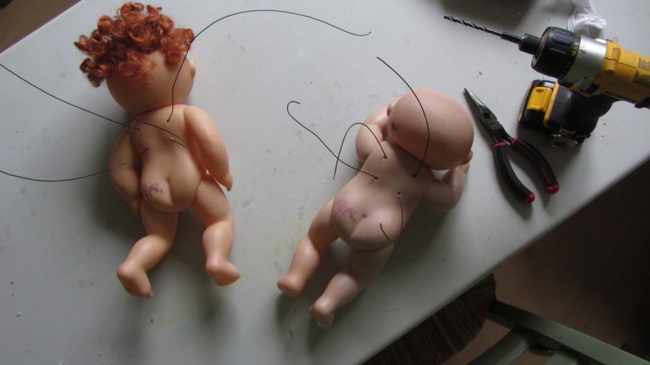 dolls cupids angels constructions surgery