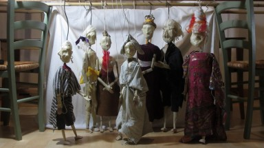 Temporary rehearsal rod marionettes, 18th century