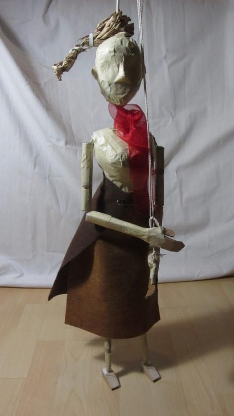 baroque puppet marionnette papier paper & tape