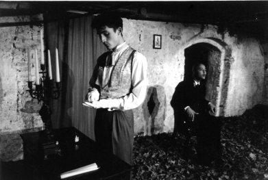 Didier Ngoie as The Esthete and Claude de Burie as his servant, Kris Fleerackers director