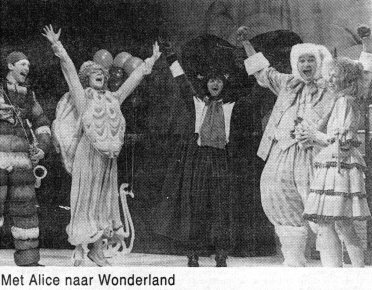 Kris Fleerackers in a touring production of Alice in Wonderland