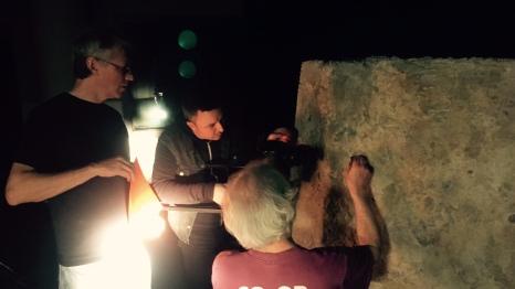 Prehistoric signs reenactment with actor Jay Hamburger and cameraman Éric Tremblay, CBC/RC (director, producer)