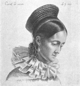 Charlotte Grimm by Ludwig Emil Grimm, 1820